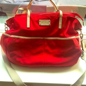 Authentic red and beige Kate Spade Diaper Bag